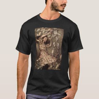 Alice Swarmed by Playing Cards T-Shirt