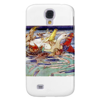 Alice Swimming in the Caucus Race Galaxy S4 Cover