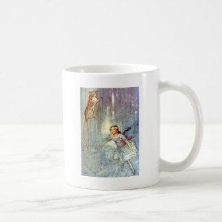 ALICE SWIMMING IN THE POOL OF TEARS CLASSIC WHITE COFFEE MUG