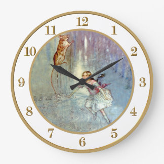 Alice Swimming in the Pool of Tears In Wonderland Wall Clock