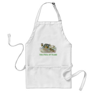 Alice swims in the Pool of Tears Adult Apron
