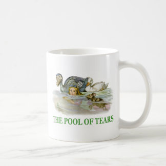 Alice swims in the Pool of Tears Classic White Coffee Mug