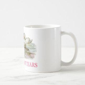 Alice swims in the pool of tears coffee mug