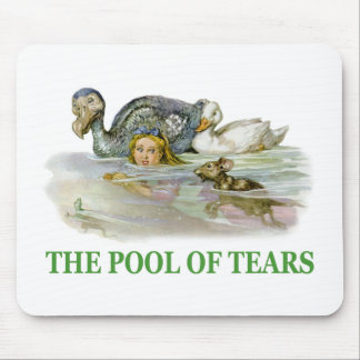 Alice swims in the Pool of Tears Mouse Pad
