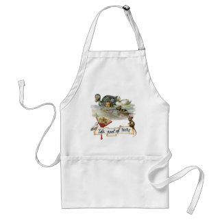 Alice swims through the Pool of Tears. Adult Apron