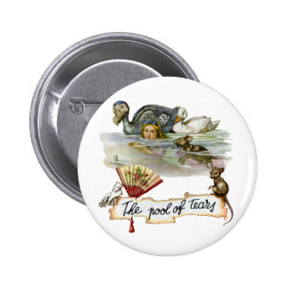 Alice swims through the Pool of Tears. Button