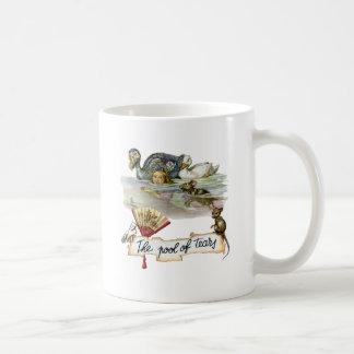 Alice swims through the Pool of Tears. Classic White Coffee Mug