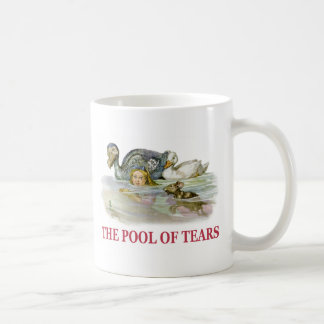 Alice Swims Through the Pool Of Tears! Classic White Coffee Mug