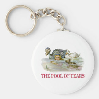 Alice Swims Through the Pool Of Tears! Keychain