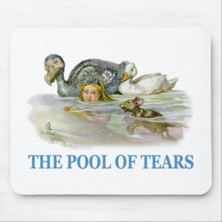 Alice Swims Through The Pool of Tears Mouse Pad