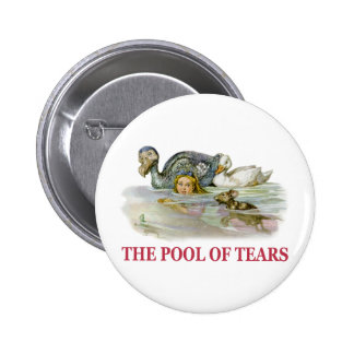 Alice Swims Through the Pool Of Tears! Pinback Button