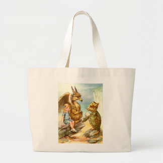 ALICE TALKE WITH THE GRIFFIN AND THE MOCK TURTLE CANVAS BAG