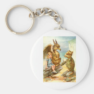 ALICE TALKE WITH THE GRIFFIN AND THE MOCK TURTLE KEYCHAIN