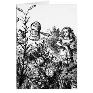 Alice Talks with Garden Flowers Card