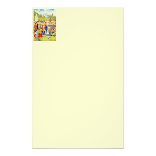 Alice & the Angry Queen Color Stationery