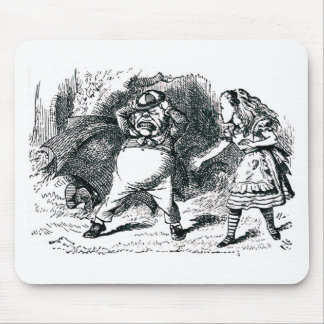 Alice & the Angry Tweedle Mouse Pad