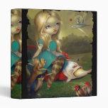Alice & the Bosch Birds BINDER in wonderland goth