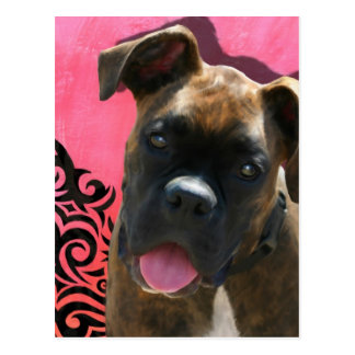Alice the Boxer Pup by Jen Geraghty Postcard