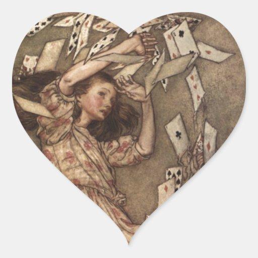 Alice & the Cards by Arthur Rackham Heart Sticker