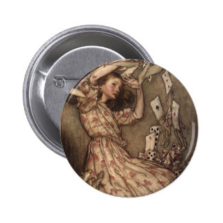 Alice & the Cards by Arthur Rackham Pinback Button