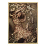 Alice & the Cards by Arthur Rackham Poster