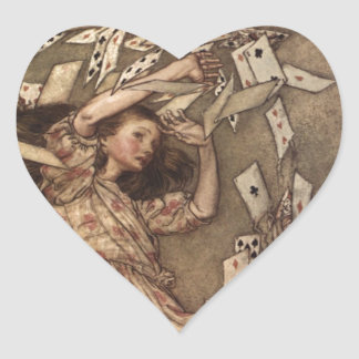 Alice & the Cards by Arthur Rackham Heart Sticker