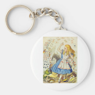 Alice & the Cards Full Color Basic Round Button Keychain