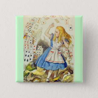 Alice & the Cards Full Color Pinback Button
