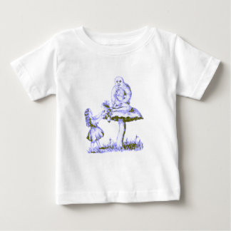 Alice & the Caterpillar by Lewis Carroll Baby T-Shirt