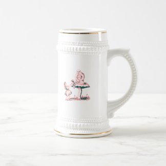 Alice & the Caterpillar by Lewis Carroll Beer Stein