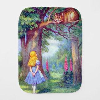 Alice & the Cheshire Cat Burp Cloth