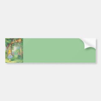 Alice & the Cheshire Cat Color Bumper Sticker
