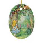 Alice & the Cheshire Cat Color Ornament