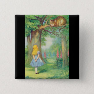Alice & the Cheshire Cat Color Pinback Button
