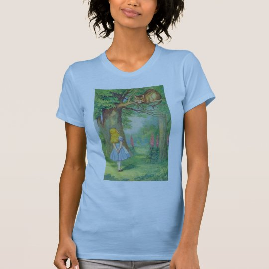Alice & the Cheshire Cat Color T-Shirt
