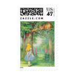 Alice & the Cheshire Cat in Full Color Postage