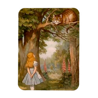 Alice & The Cheshire Cat - Magnet Rectangular Magnet
