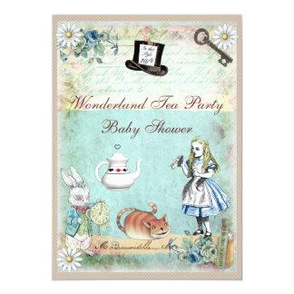 Alice & the Cheshire Cat Wonderland Baby Shower Card