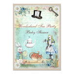 Alice & the Cheshire Cat Wonderland Baby Shower Personalized Announcement