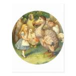Alice & the Dodo Color Postcard