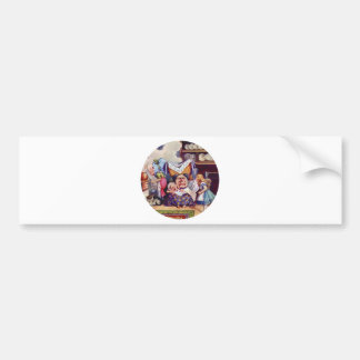 Alice, the Duchess and the Pig Baby Bumper Sticker