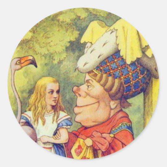 Alice & the Duchess Color Classic Round Sticker