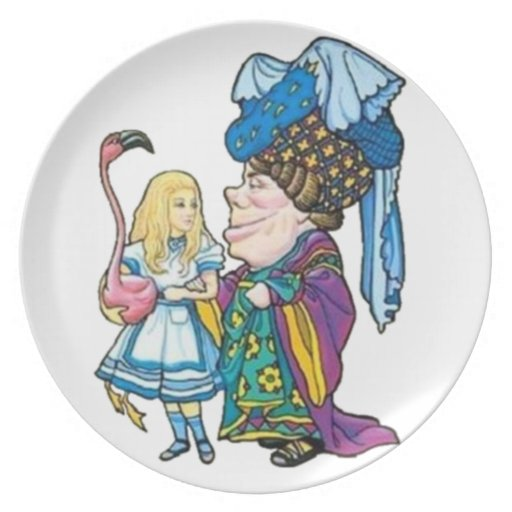Alice & the Duchess Color Party Plates