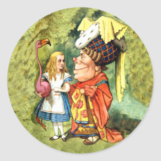 ALICE & THE DUCHESS - EVERYTHING'S GOT A MORAL! CLASSIC ROUND STICKER