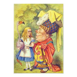 Alice & the Duchess Full Color 5x7 Paper Invitation Card