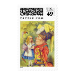 Alice & the Duchess Full Color Postage Stamps