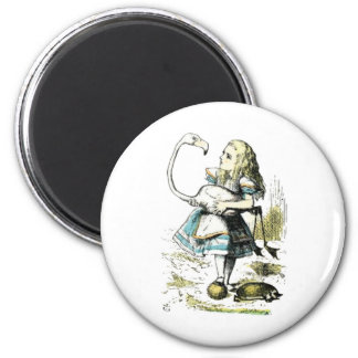Alice & the Flamingo Light Pastels Magnet
