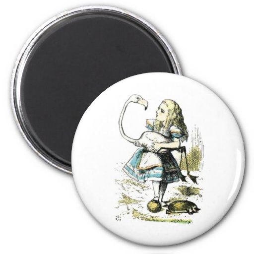 Alice & the Flamingo Light Pastels Magnets
