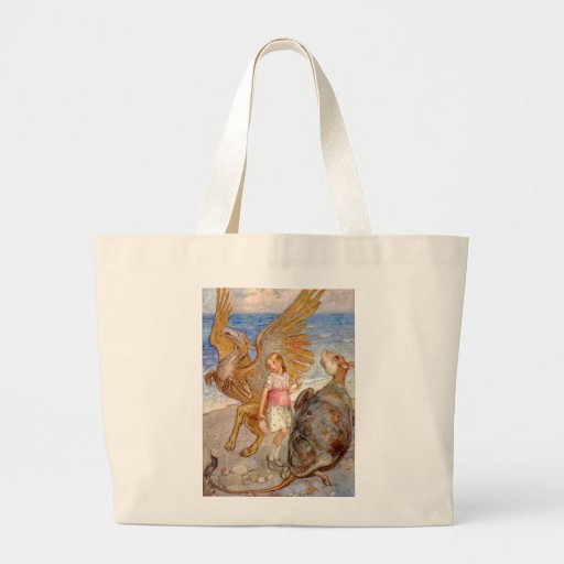 Alice, the Griffin and the Mock Turtle Tote Bags