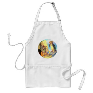 Alice, the Griffin & the Mock Turtle in Wonderland Adult Apron
